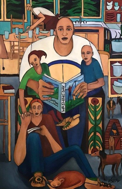 Learning_to_Read__Oil_on_Canvas__24_x_36